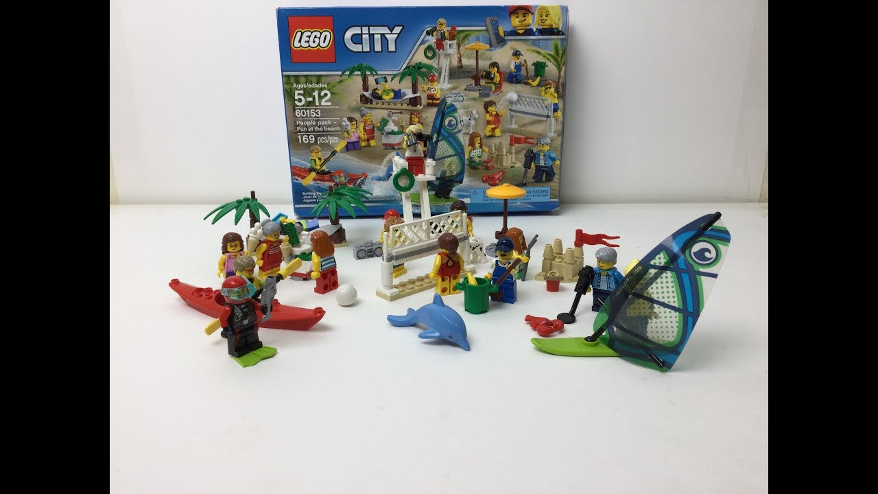 *BRAND NEW* Lego City Set #60153 People Pack Fun at the Beach Minifigs