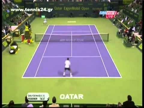 Federer Vs Davydenko Doha Final 2011