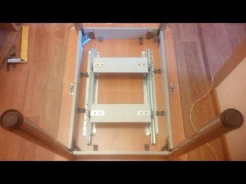 Как собрать кухонный стол раскладной схема