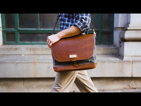 Best Mens Messenger Bags - The Classic Leather Messenger Bag From Pad & Quill