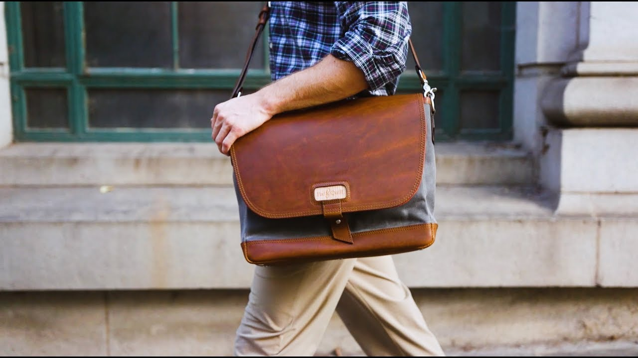 Best Mens Messenger Bags - The Classic Leather Messenger Bag from Pad    Quill 0d279e0c77a50