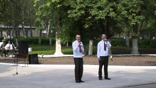 Зерноград, праздник 9 мая 2014г, В/Ч 20926, выступление оркестра -