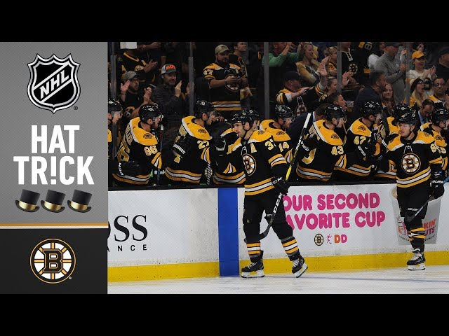 Patrice Bergeron collects his fourth career hatty in Boston's home-opening win