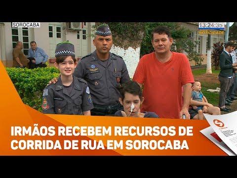 Irmãos Recebem Recursos De Corrida De Rua Em Sorocaba - TV SOROCABA/SBT
