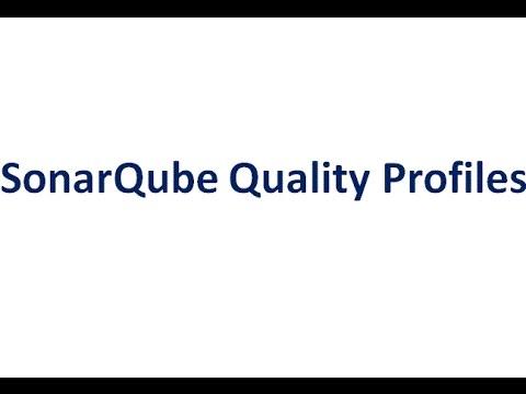 SonarQube Quality Profiles