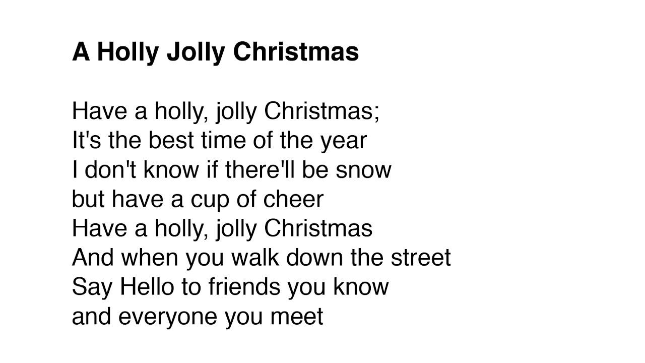 Holly Jolly Christmas - YouTube