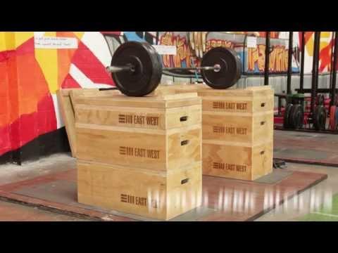 Wood Jerk Blocks by East West Fitness