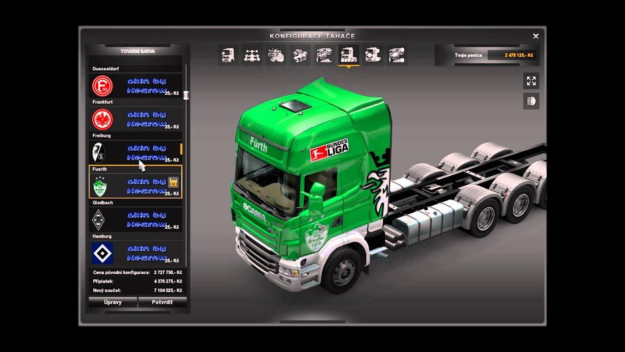 euro truck simulator 2 mod tuning scania tandem youtube. Black Bedroom Furniture Sets. Home Design Ideas