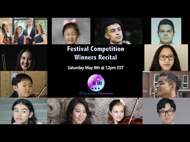 LIVE! Progressive Musicians Festival Competition Winners Recital.