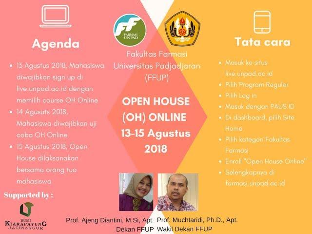 Open House Live Streaming Fakultas Farmasi Unpad