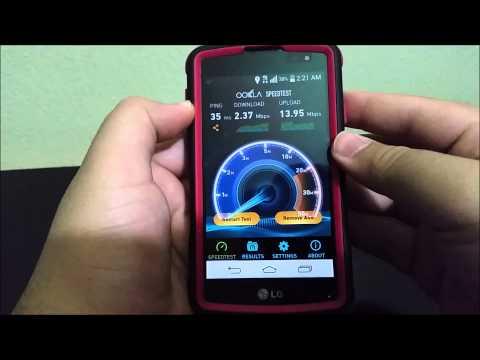 MetroPCS LG Opimus F60 4G LTE SpeedTest