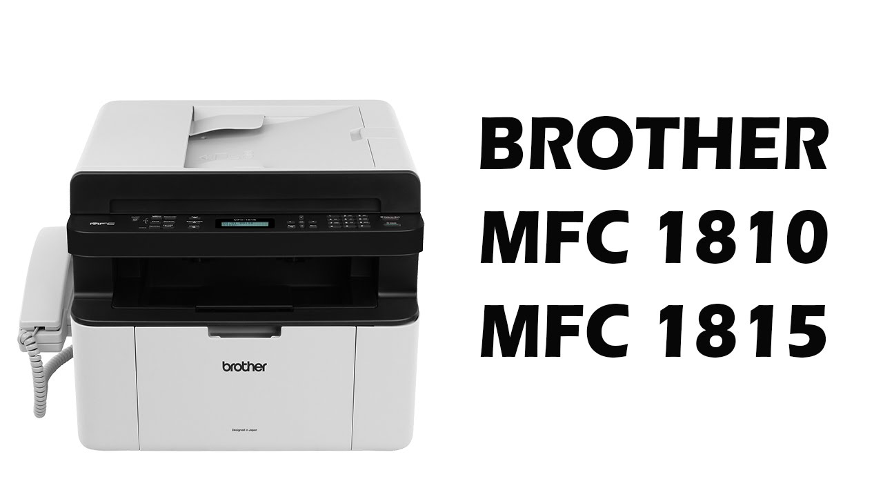 DRIVERS: BROTHER MFC-1810E