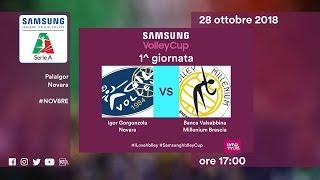 Novara - Brescia | Speciale | 1^ Giornata | Samsung Volley Cup 2018/19