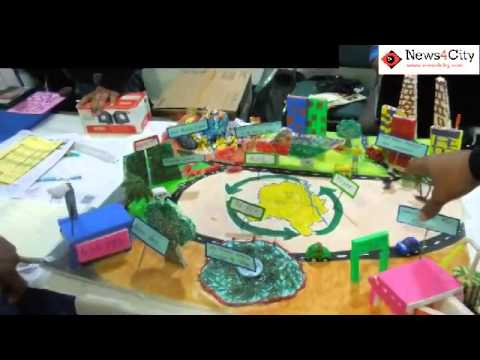 Solid waste management project by du students youtube for Working model best out of waste
