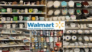 Walmart Kitchen Decor Accessories | Dinnerware Table Decoration Ideas | Shop With Me Fall 2019