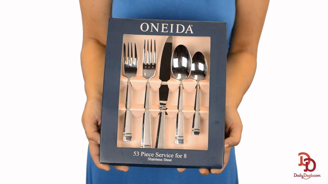 Oneida Silverware Set  sc 1 st  YouTube & Oneida Silverware Set - YouTube
