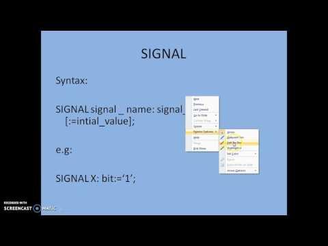 VHDL SIGNAL VARIABLE