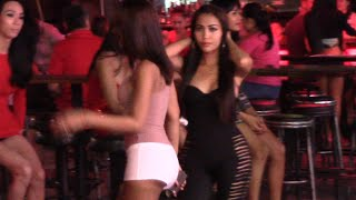Pattaya Girls, Ladyboys Walking Street Thailand nightlife 2014
