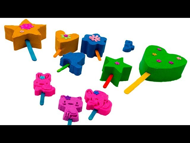 How to make a Kinetic Sand Popsicle | Kinetic Sand art for kids | Learn colors for kids |
