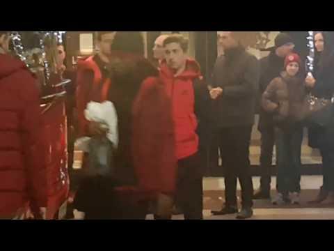 Lo Sparta Praha all'Hotel Melià Milano per Inter-Sparta Praha 8/12/2016