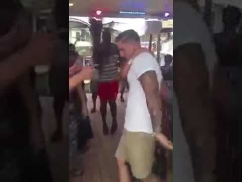 Caribbean couple dance on reagge song
