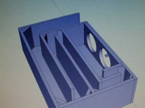 T Line Subwoofer 3d Enclosure Plan Youtube