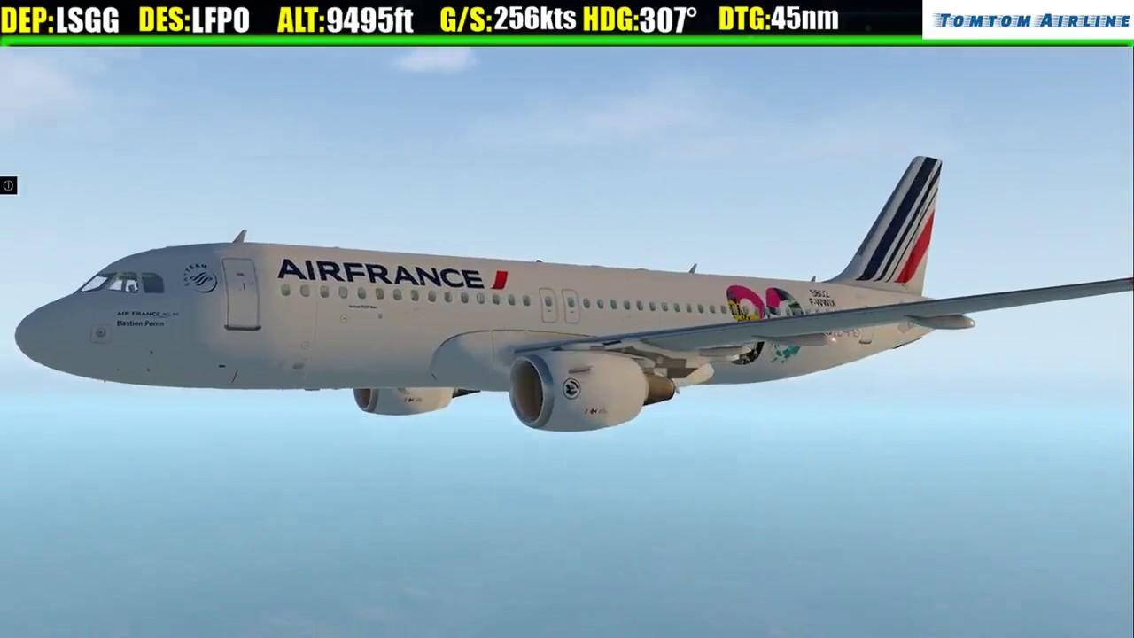 [X-plane 11 ] A -320 AIR FRANCE✈ GENEVA✈ORLY Live Stream ] ✈ | 1 JAN 2018