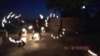 Огненно пиротехническое шоу X fire в Нижнем Новгороде