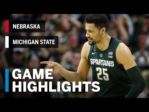 Highlights: Goins' 24 Sparks Michigan State in Key Game | Nebraska at Michigan State | March 5, 2019
