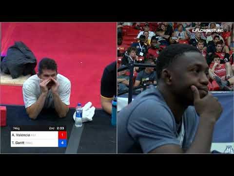 74 Kg Semis Anthony Valencia ASU Wrestling Vs Thomas Gantt TMWC WOLFPACK WC