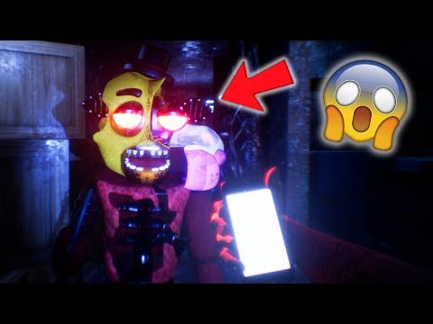 NEW CHICA ANIMATRONIC EATS ME ALIVE!! (FNAF 3D Free Roam Lost and Found)