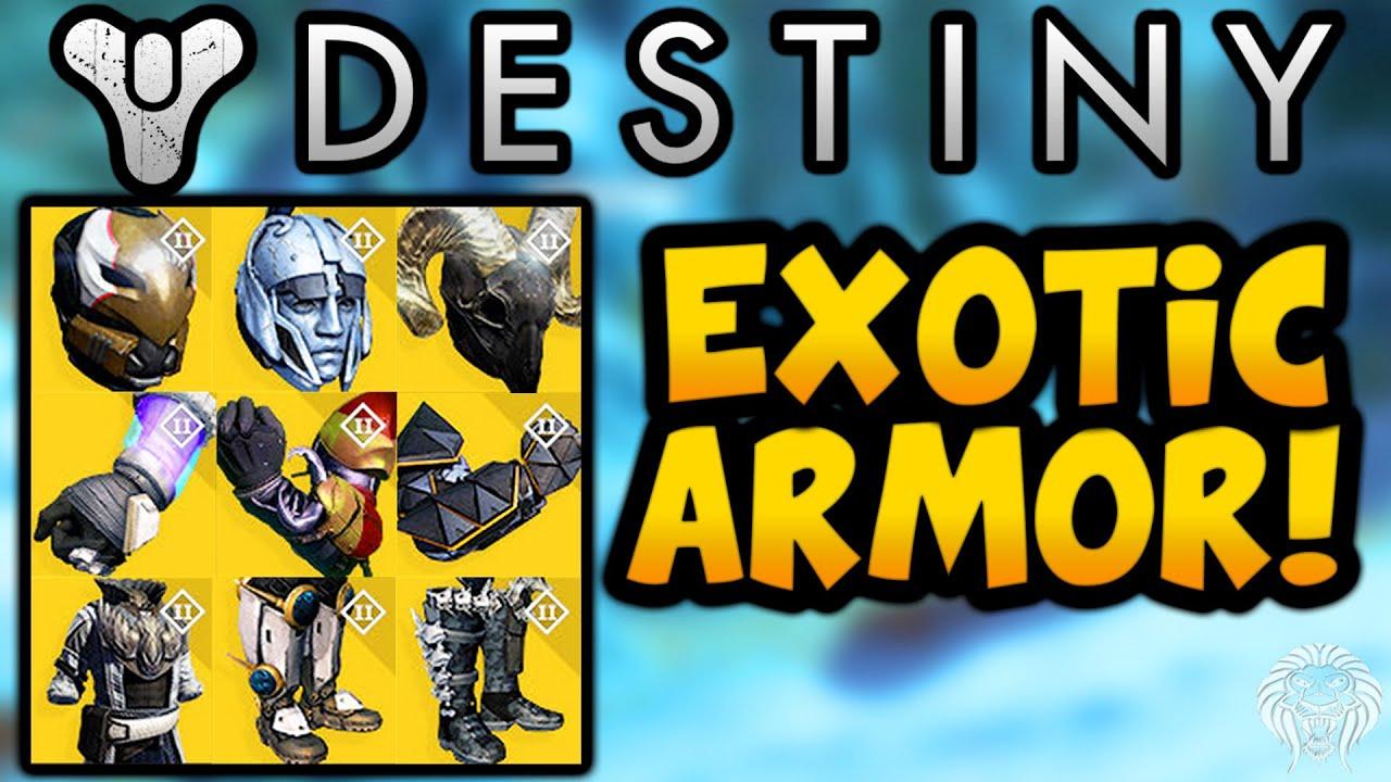 Destiny HOUSE OF WOLVES EXOTIC ARMOR All New Armor Exotics Hunter Warlock Titan HoW DLC