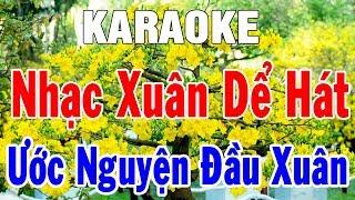 Karaoke Nhạc Sống Liên Khúc Ước Nguyện Đầu Xuân | Tuyển Chọn Nhạc Xuân Dể Hát | Trọng Hiếu
