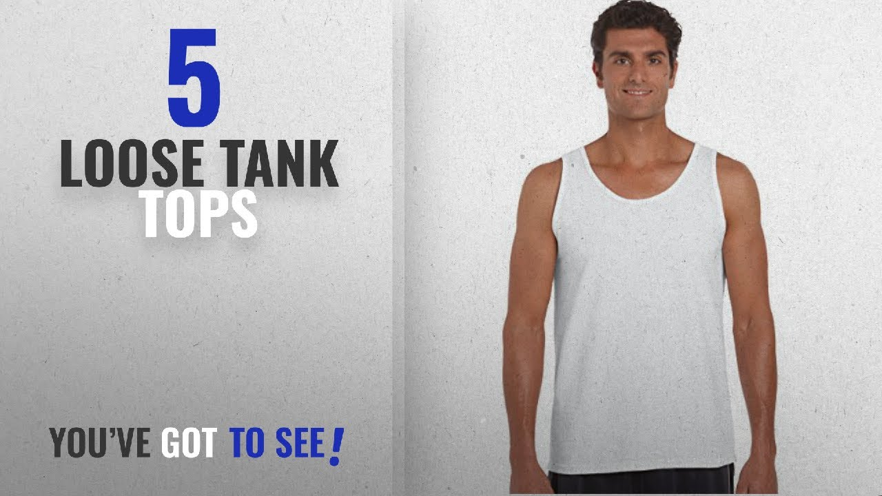 2035dd78be2bb8 Top 10 Loose Tank Tops  Winter 2018    Gildan 2200- Classic Fit Adult Tank  Top Ultra Cotton - First