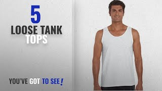 Top 10 Loose Tank Tops [Winter 2018 ]: Gildan 2200- Classic Fit Adult Tank Top Ultra Cotton - First