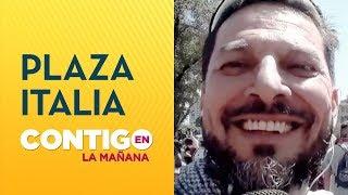 Rafael Cavada vivió las protestas pacíficas de Plaza Italia desde adentro - Contigo en La Mañana