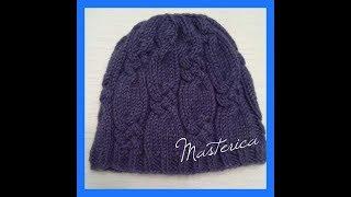 Вязание женской шапки.