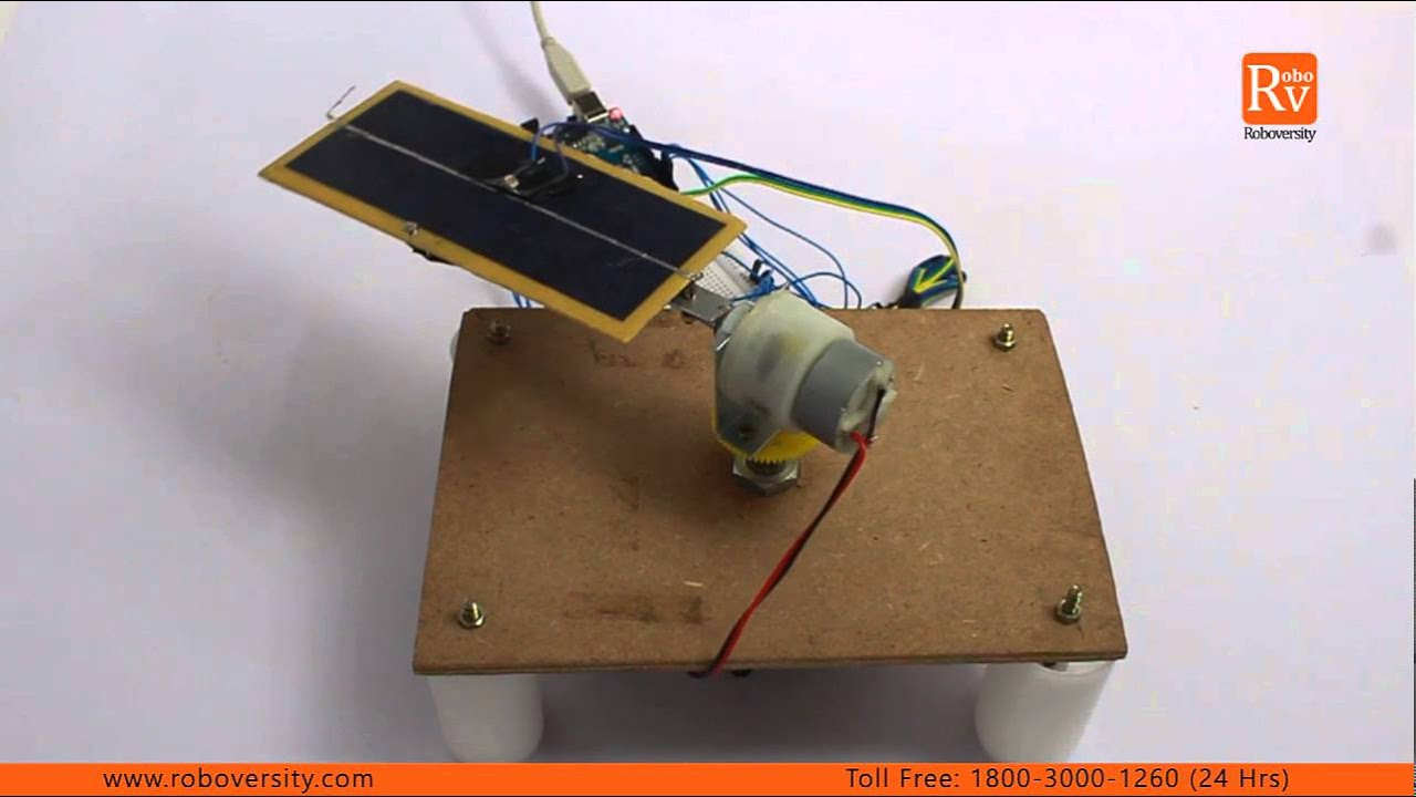 Automatic Solar Tracker Project By Roboversity Youtube