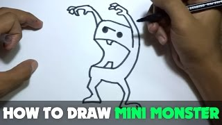 How to Draw a Cartoon - Mini Monster (Tutorial Step by Step)