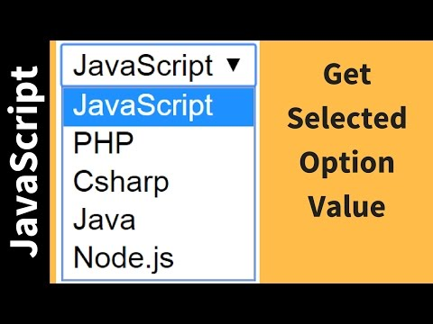 How To Get Selected Option Value From Drop Down List Using