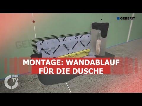 Duschablauf Wand geberit montagevideo wandablauf für dusche