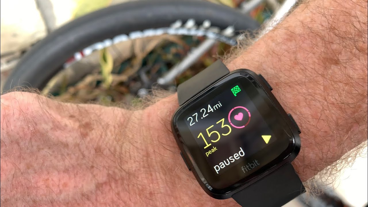 How To Track A Bike Ride With Fitbit Youtube