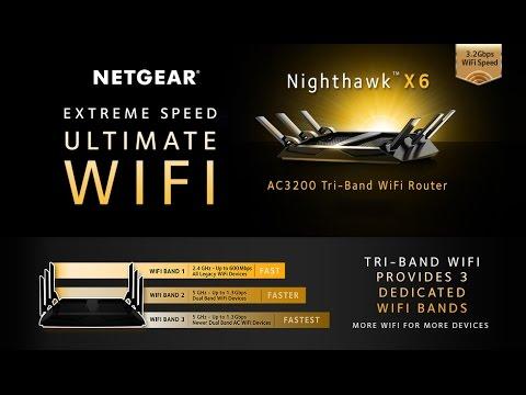 NETGEAR Nighthawk X6 AC3200 Tri-Band Gigabit Wi-Fi Router (R8000)