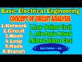 Circuit Analysis|| concept of network, circuit, linear & Nonlinear , Bilateral & Unilateral ||#kunal