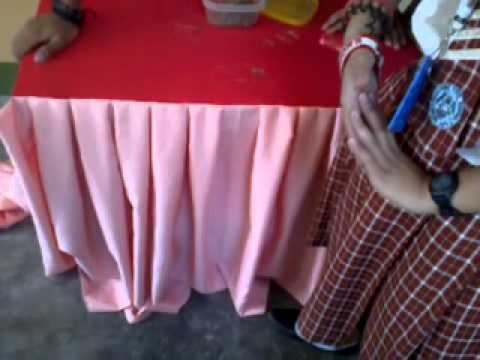 how to make table skirting step by step