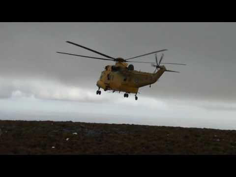 Sea King sortie over the Falkland Islands