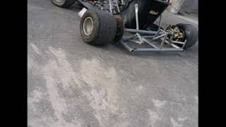 Mighty cars racing go kart finished