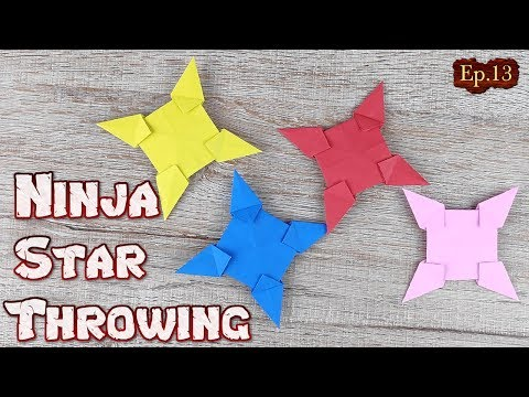 Origami Throwing Ninja Star | How To Making a Ninja Weapon Tutorial | DIY Paper Blade Shuriken Ep.13
