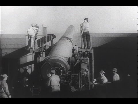 HD Historic Archival Stock Footage WWII - Big Guns Guard U.S. Coastline! 1942