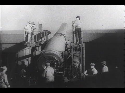 HD Historic Archival Stock Footage WWII - Big Guns Guard U.S. Coastline! 1942